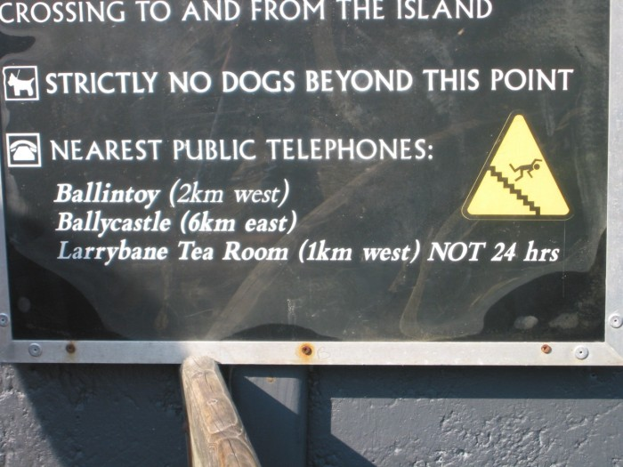 Nearest Public Telephones - Bottom of the stairs