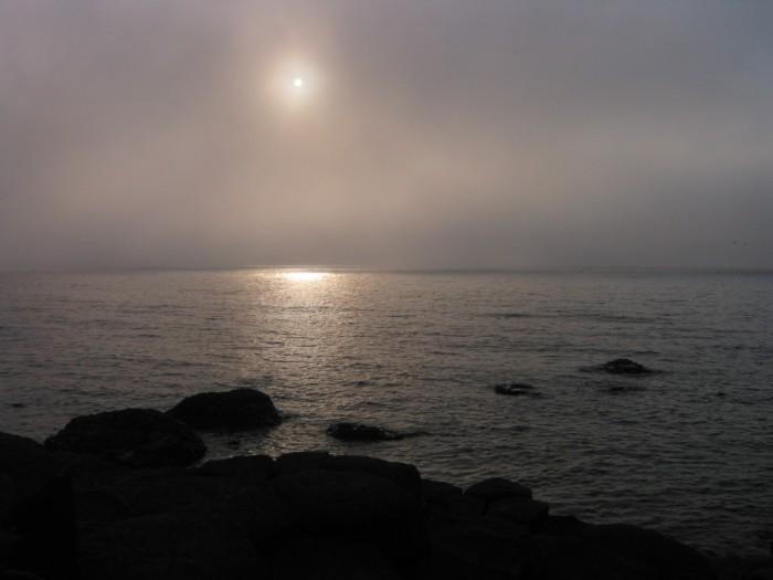 Sun pierces the clouds